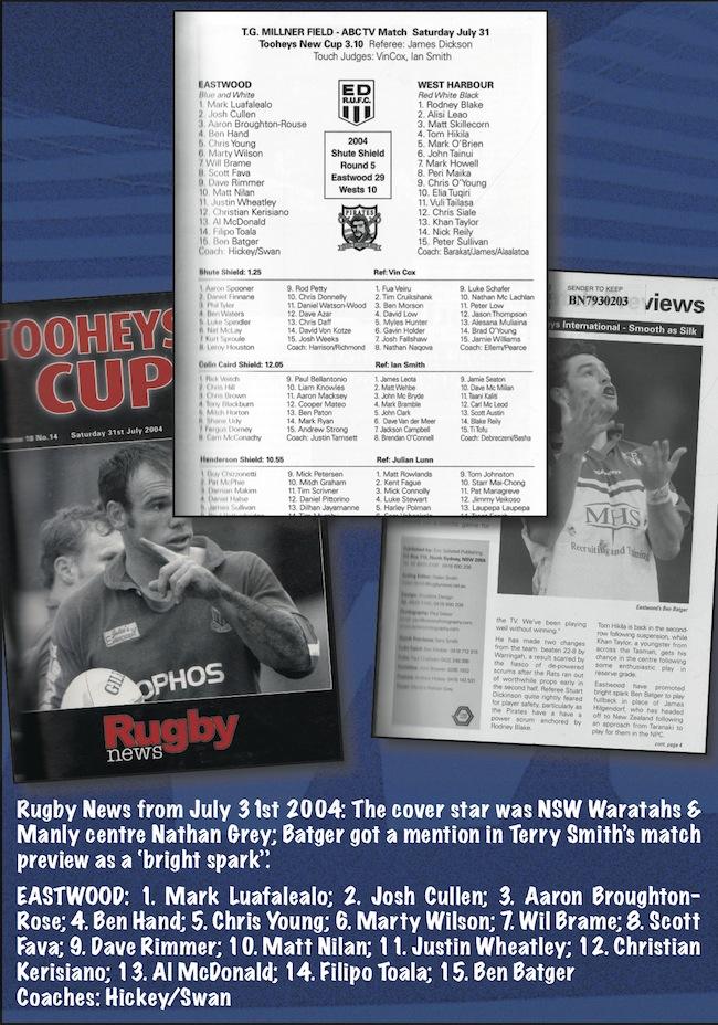 Eastwood v West Harbour Rugby News Team Sheet 2004_SJ