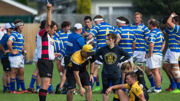Blue card issued_NZ club rugby 2016