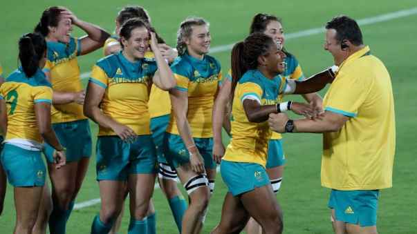 John Manenti_Aussie Sevens asst coach celebrates_2016