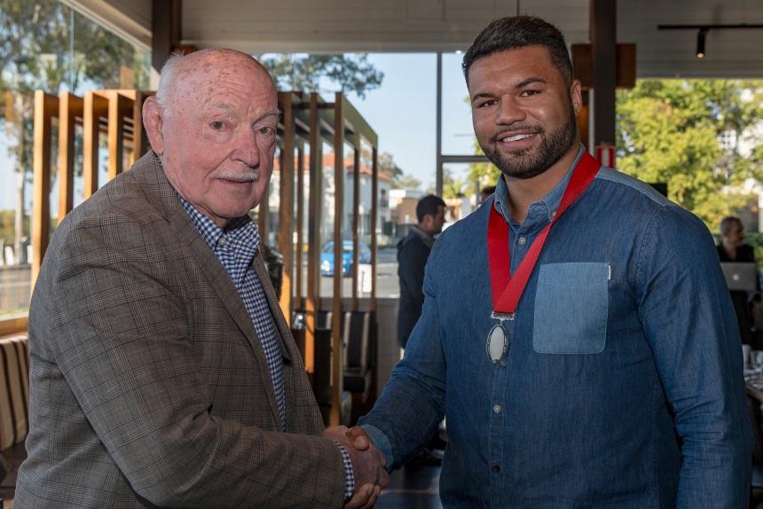 Queensland legend Alec Evans and Bond captain Tai Ford_2018_QRU