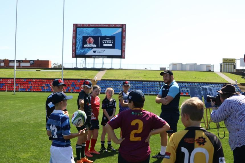 NSW Waratahs_Newcastle Announcement_Harry Johnson-Holmes & Juniors_JD