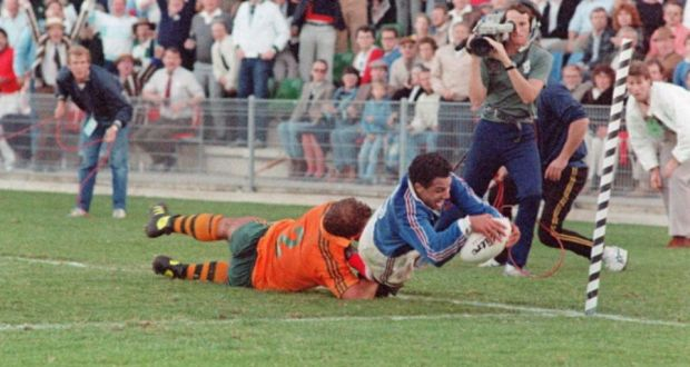 Serge Blanco_France v Wallabies_1987 RWC SF_Getty