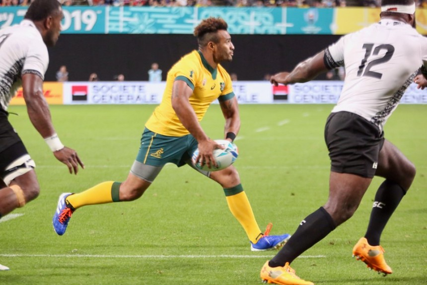 Will Genia_Wallabies v Fiji_RWC 2019_AJF