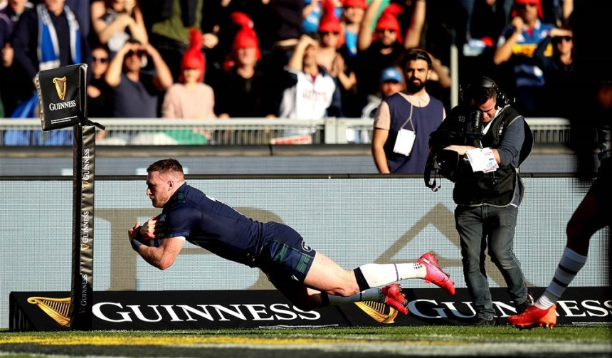 Stuart Hogg scores the first try 22/2/2020