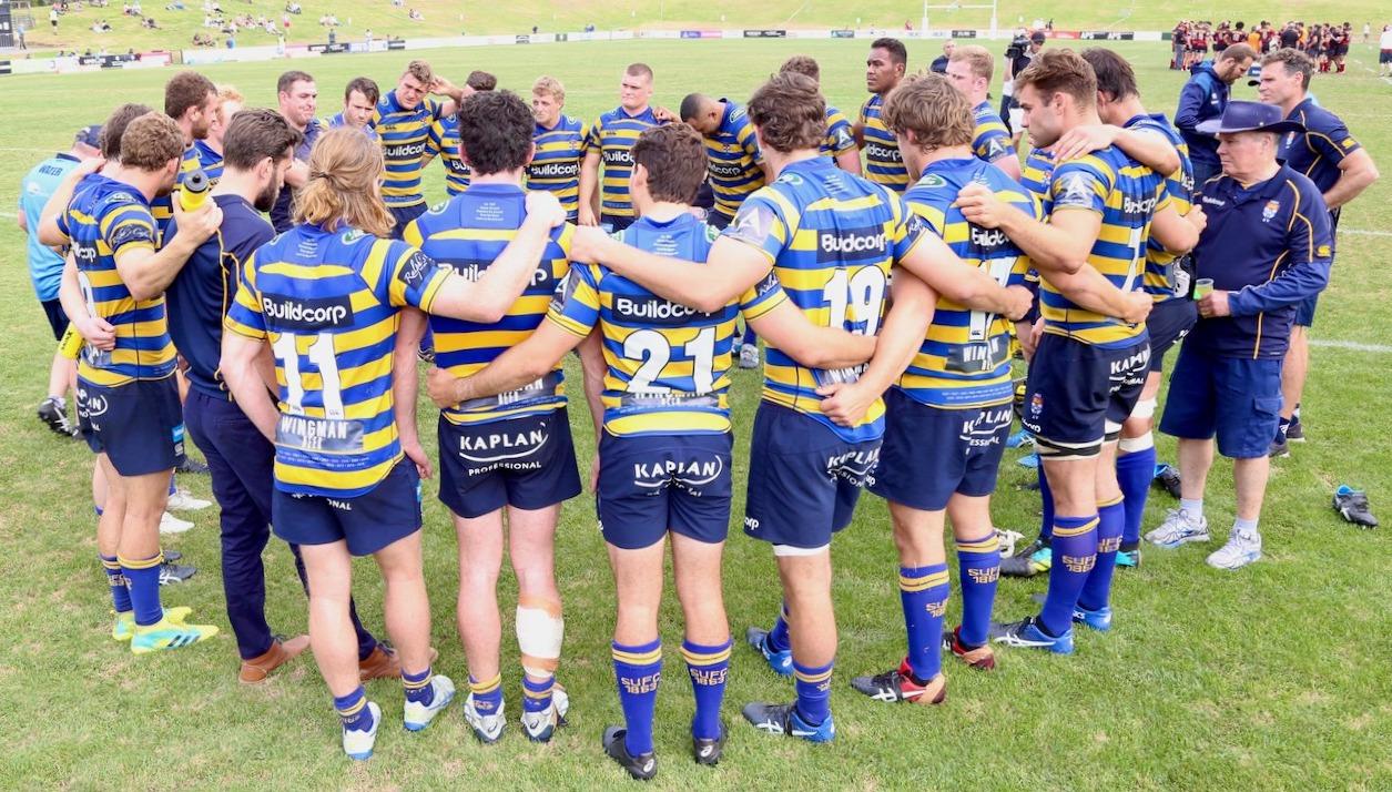 Sydney Uni v Norths team huddle_PF_2020_AJF