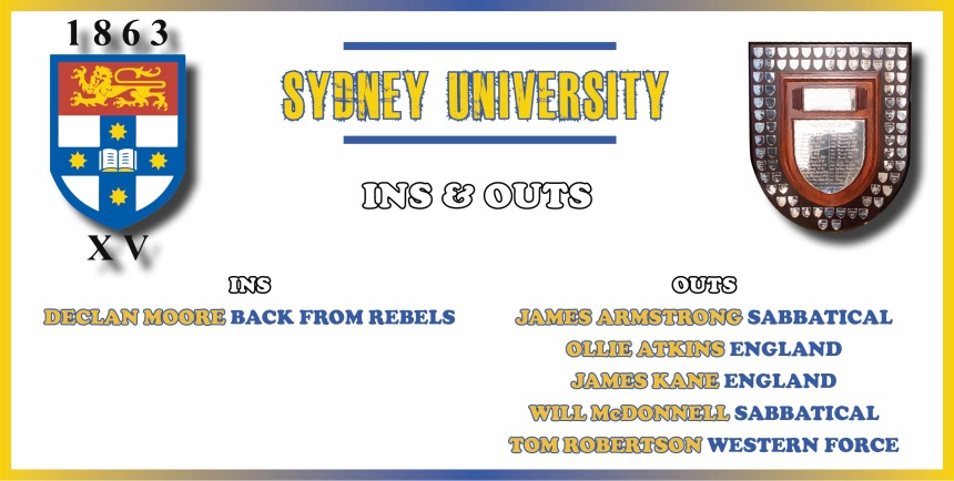 Sydney Uni Ins and Outs