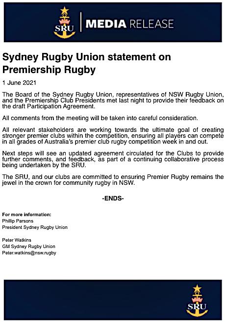 SRU Statement